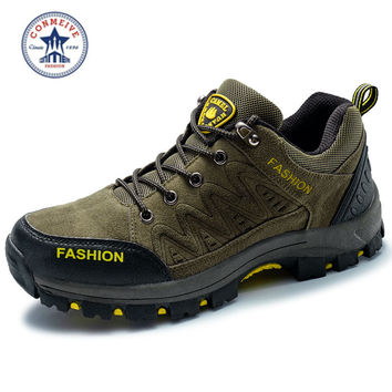 outdoor hiking shoes trekking camping climbing boots waterproof hunting Leather  Men Lace-Up Wide(C,D,W)