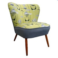 Club Armchair in Sanderson Green Fabric, Germany, 1960s