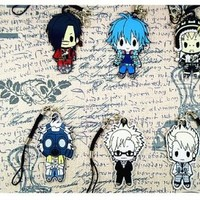 DRAMAtical Murder DMMD AOBA Koujyaku Anime Keychain Key Ring Rare New Japanese 6pcs/set