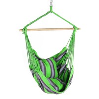 Green Mix Cushioned Hanging Hammock Chair