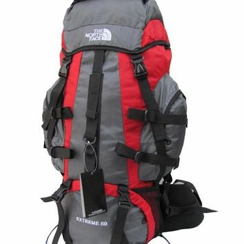North Face outdoor backpack bag to send rain cover 60 liters