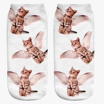 Cat Angel Women's Ankle Socks