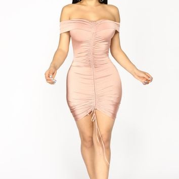 Bangkok Ruched Dress - Mauve