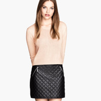H&M Skirt in imitation leather $29.95