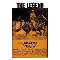 JOHN WAYNE CHISUM movie poster HORSE-RIDING LEGEND classic western 24X36