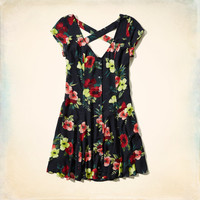 Hobson Button Front Skater Dress