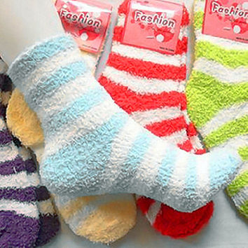 Winter Warm Fuzzy Socks Candy Color