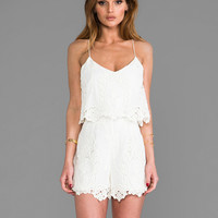 Dolce Vita Gardner Romper in White & Natural