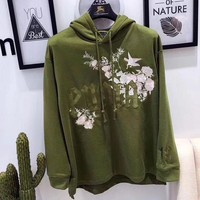 PUMA Women Fashion Embroidery Hoodie Top Sweater Pullover