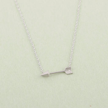 Gold and Silver Plated Long Chain Arrow Pendant Necklaces for Women  Simple Necklaces & pendants