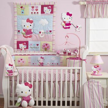Bedtime Originals Hello Kitty and Puppy Crib Bedding Collection