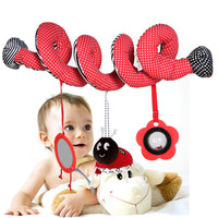 Hot Babyplay Baby Spiral Cot Activity Hanging Decor Toy for Cot / Car Seat / Pram