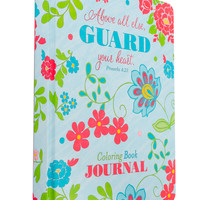 SoulScripts, Guard Your Heart Coloring Book Journal, Hardcover, 10 x 7 3/4 inches | Coloring for Adults | Gifts & Décor | Mardel