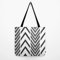 Black and White Arrow Print Tote Bag - 3 sizes - Grocery Tote - Book Bag - Craft Tote - Made to Order