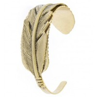 Etched Feather Cuff