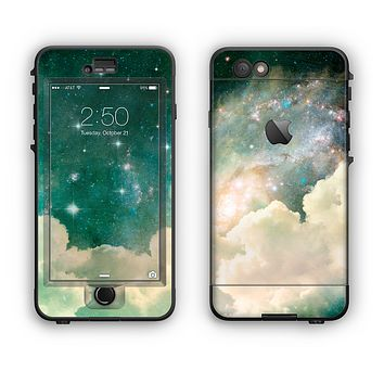 The Cloudy Abstract Green Nebula Apple iPhone 6 Plus LifeProof Nuud Case Skin Set