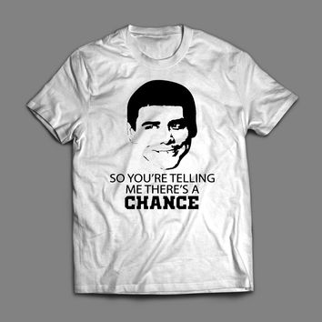 """DUMB & DUMBER'S LLOYD CHRISTMAS """"SO YOU'RE TELLING ME THERE'S A CHANCE"""" T-SHIRT"""