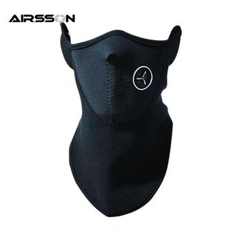 Airsoft Warm Fleece Bike Half Face Mask Cover Face Hood Protection Ski Cycling Sports Outdoor Winter Neck Guard Scarf Warm Mask