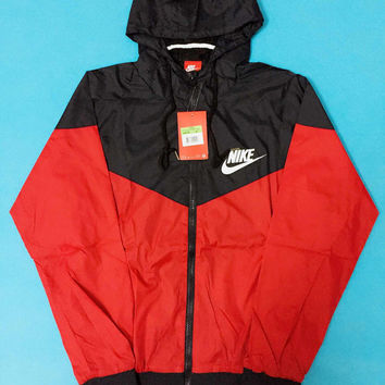 """NIKE"" Women Hooded Zipper Cardigan Sweatshirt Jacket Coat Windbreaker"
