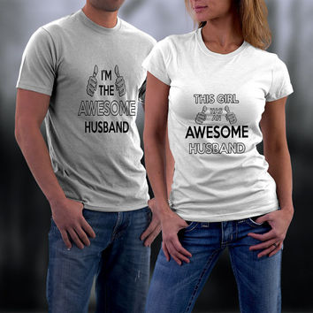 Couples Shirts, Personalized Couple Shirts. Awesome Couple Match TShirts, Ladies and Men Tshirt