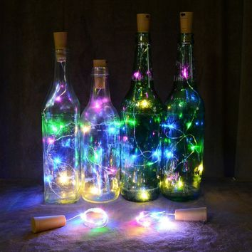 Wine Bottle Cork Lights Copper Wire String Lights for Wedding Festival Party Decor