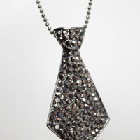 Laters, Baby! Fifty Shades of Grey inspired Jewelry Black Crystal necktie Necklace by LiveLoveLeaf, $25.00 A fun Valentine's Day gift idea