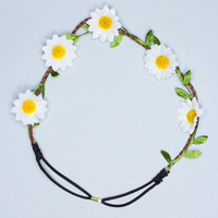 Daisy Don't Cry Headband - White