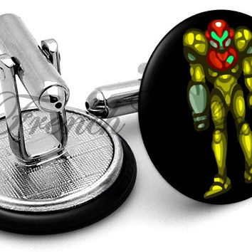 Metroid Samus Cufflinks