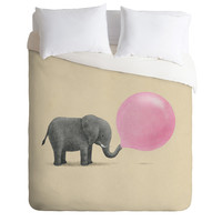Terry Fan Jumbo Bubble Gum Duvet Cover