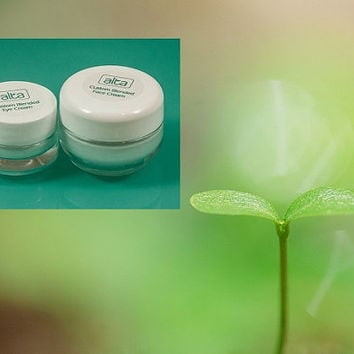 Best Natural Skin Care Eye Cream and Face Cream Facial Moisturizer Botanical Beauty Duo  - Custom Blended