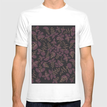 purpur // purple branches, delicate flowers T-shirt by Camila Quintana S