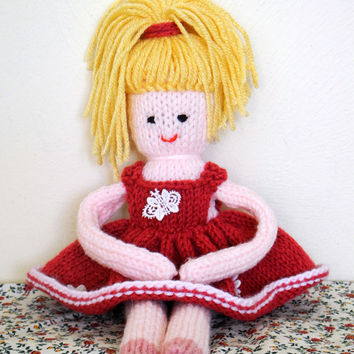 Ballerina Doll, Handmade knitted Doll, Knitted Ballerina Doll, Soft Plush Toy, Handmade Gifts, Knitted Dolls, Small Dolls, Gift for Kids