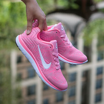 """NIKE"" Trending Fashion Casual Sports Shoes Pink"