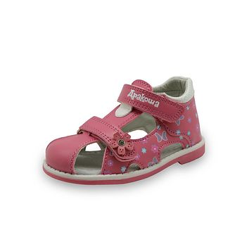 New Summer Fashion Children Shoes Toddler Girls Sandals Kids Girls PU Leather Sandals Butterfly with Arch Support