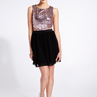Glamorous Sequined Combo Dress