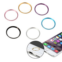 Metal Home Button Protective Case Cover Sticker Circle Ring For Apple iPhone 6S