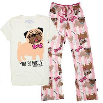 David and Goliath You So Pugly Womens T-shirt & Lounge Pants Set