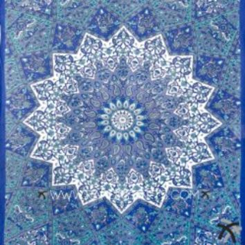 Handicrunch Twin Hippie Star Tapestries , Psychedelic Tapestry ,Sun and Moon Tapestry,star Mandala Tapestries, Throw Bedspread Queen Bed Dorm Decor: Amazon.ca: Home & Kitchen