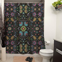 Funky Bloom Shower Curtain