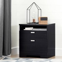 South Shore Reevo Nightstand with Charging Station, Multiple Finishes - Walmart.com