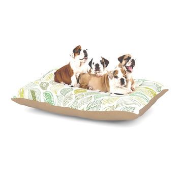 "Pom Graphic Design ""Inspire Nature"" Green Yellow Dog Bed"