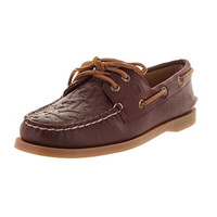 Sperry Womens A/O 2-Eye Leather Embossed Boat Shoes