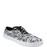 Marvel Group Comic Black & White Lace-Up Sneakers