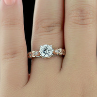 Chapman Two Tone Engagement Ring | MiaDonna.com