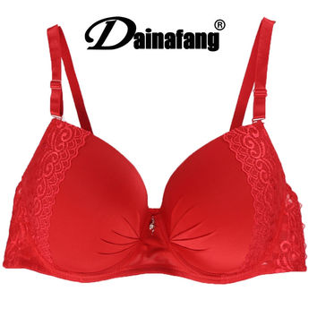 Soft Appliques Red Thin Bra Max Cup Bras For Women Sexy Push Up Underwear Size 40D 40E 42D 42E 44DD 44E 46D 46DD 48D 48E 50D 50E
