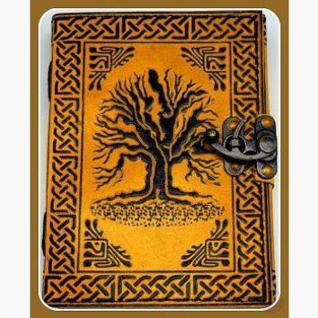 """Tree of Life"" Latched Leather Journal"