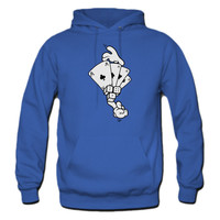 Comic Hands Playing Cards, Dice Hoodie