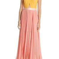 Joie Elenita Colorblock Pleated Chiffon Dress | Nordstrom