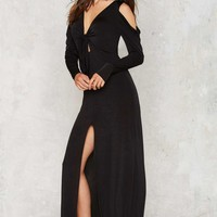 Nasty Gal Knot Just Anyone Maxi Dress
