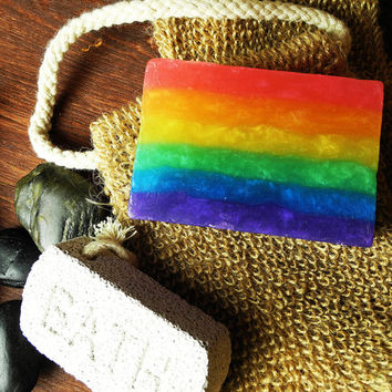 Over the Rainbow - Handmade Soap - Olive Oil Soap - Glycerin Soap Soap